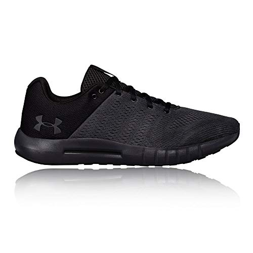 Under Armour mens Micro G Pursuit Running Shoe, Anthracite (104)/Black, 10.5