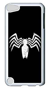 Creative GOOD For iPod Touch 5, iPod Touch 5 Case, Custom Design Spider Black Hard PC White Protective Case Cover for New Apple iPod Touch 5 5th Generation