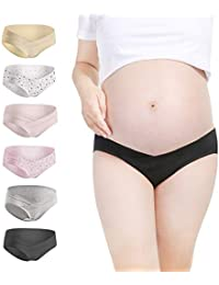 d943195feb3 Women s Under The Bump Maternity Panties Cotton Comfy Pregnancy Underwear  Multi Pack