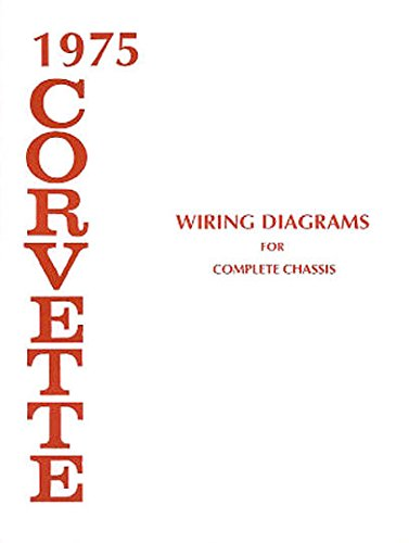 Corvette Wiring - 1975 Corvette Electrical Wiring Diagrams Schematics Service Repair Book OEM