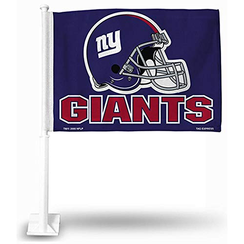 Football Car Flag - Rico Industries NFL New York Giants Car Flag