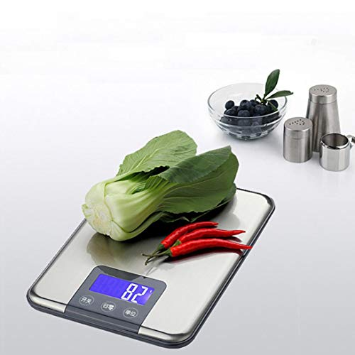 Digital Scale,LtrottedJ 15KG 1g Digital Kitchen Scale,Balance Slim Stainless Steel Electronic Scales by LtrottedJ