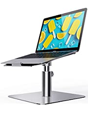 """Laptop Stand Adjustable, Ohuhu Ergonomic Aluminum Notebook Computer Holder, Multi-Angle & 360 Rotating Laptop Riser for Desk, Compatible with MacBook Air Pro, Dell, HP, Lenovo More 10-17"""" Laptops"""
