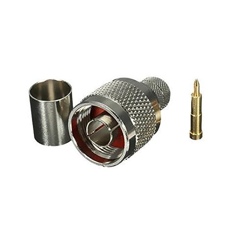 DyNamic Conector recto del RF del cable masculino del enchufe de la encrespadura N-Type