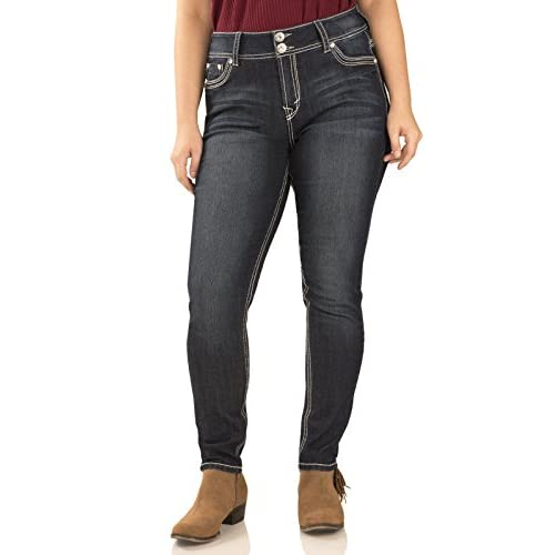 WallFlower Juniors Plus Size Luscious Curvy Bling Skinny Jeans ...
