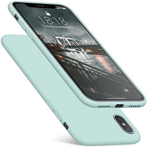 - DTTO iPhone Xs Case/iPhone X Case, 7 Colors Liquid Silicone [Romance Series] Gel Rubber Shockproof and Anti-Drop Protection Cover for Apple iPhone Xs (2018)/iPhone X (2017) 5.8 Inch-Mint Green