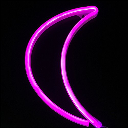 Crescent neon light moon led neon signs art wall lighting decor for crescent neon light moon led neon signs art aloadofball Image collections