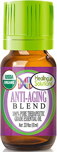 Organic Anti-Aging Blend Essential Oil (100% Pure - USDA Certified Organic) Best Therapeutic Grade Essential Oil - 10ml
