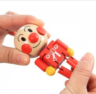 [Anpanman baby changeable cartoon wooden doll wood dolls cute Anpanman baby wooden toy joint movement leg hand head change pose] (Chinese Doll Halloween Costume)