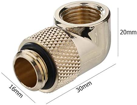 Blue-Ocean-11 Rotatable Water Cooling Fittings 90 360 Degree Elbow Rotary Joint Connector with G1//4 Thread for PC water cooling system