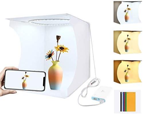Kamera-Zubehör Tragbare Folding-Ring-Licht-Foto-Beleuchtung Studio-Schießen Zelt-Kasten-Sets mit 6 Farben Backdrops (Schwarz, Weiß, Orange, Rot, Grün, Blau), Entfalten Größe: 31cm x 31cm x 32cm