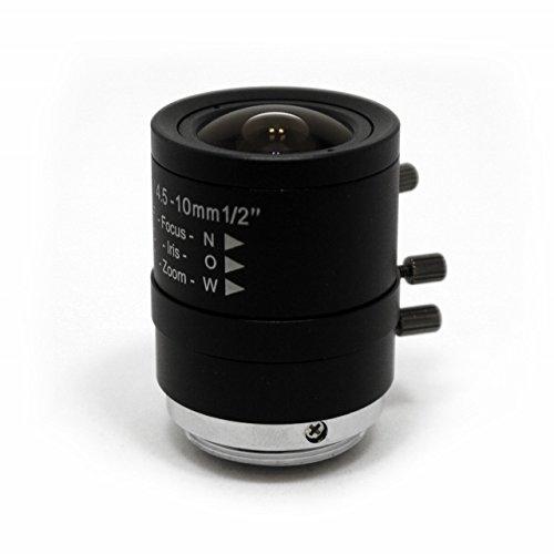 StarDot LEN-MV4510CS CS-Mount 4.5-10mm Vari-Focal Lens, Black
