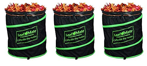 LeafMate Collapsible Yard Bag Holder, Heavy Duty, Reusable Leaf and Lawn  Waste Bag