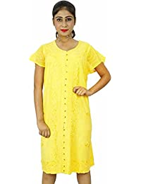 Indian Women Sundress Dress Rayon Casual Summer Beach Dress