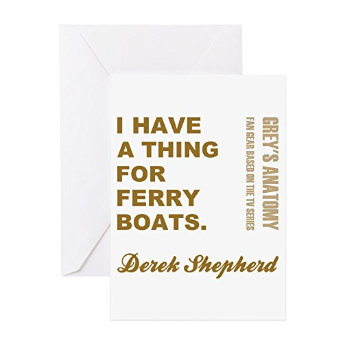 CafePress FERRY BOATS Greeting Cards Greeting Card, Note Card, Birthday Card, Blank Inside Matte