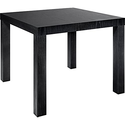 Beau DHP Parsons Modern End Table, Black Wood Grain