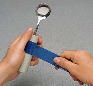 "Dycem Non-Slip Self-Adhesive Strips (16"" X1-1/8"" ) 3 Each, Blue"