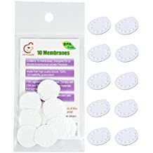 NeneSupply 10 Count Membranes for Medela Breastpumps (Pump In Style, Swing, Lactina, Symphony, Mini Electric, and Harmony). Designed to use with Medela Valves and NeneSupply Valves. Replaces Medela Membrane. Can Be Sanitized with Medela Micro-Steam Bag by NeneSupply