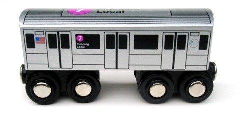 Munipals Wooden Railway NYC Subway Car 7
