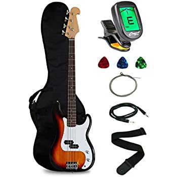 goplus electric bass guitar full size 4 string with strap guitar bag amp cord blue. Black Bedroom Furniture Sets. Home Design Ideas