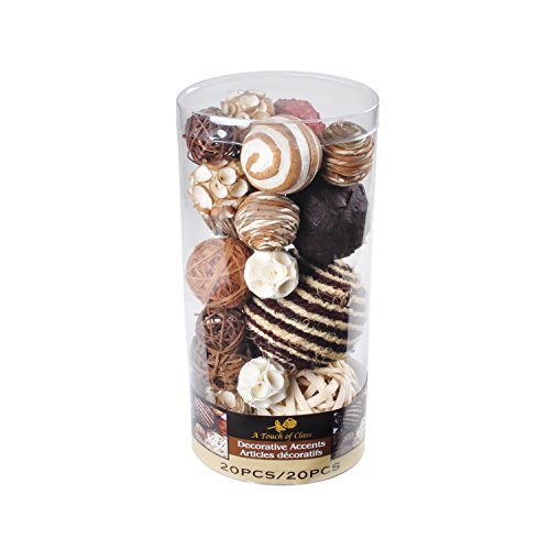 Lerman Decor WBF113 Decorative Bowl Filler, Chocolate Brown