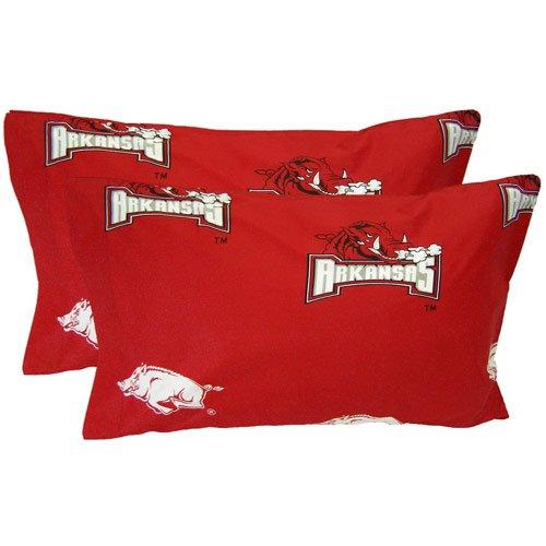 - College Covers NCAA Arkansas Razorbacks Pillowcase Pair, King, Red