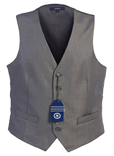 on Formal Suit Vest, Gray, Medium (Five Button Suit Vest)
