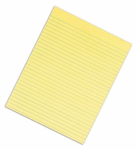 TOPS Second Nature 100% Recycled Legal Pad, 8-1/2 x 11 Inches, Gum-Top, Canary, Legal/Wide Rule, 50 Sheets per Pad, 12 Pads per Pack (74860) by TOPS (Image #1)