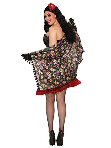 Forum Women's Day Of The Dead Shawl, Multi, One Size