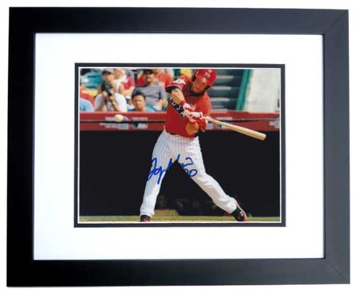 (Logan Morrison Signed - Autographed Team USA - Florida Marlins 8x10 inch Photo BLACK CUSTOM FRAME)