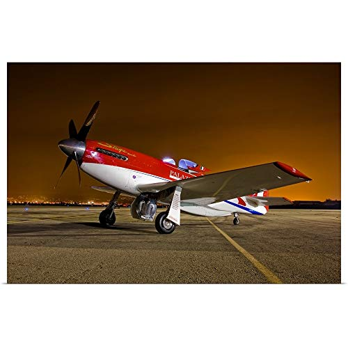 GREATBIGCANVAS Poster Print Entitled Strega, a Highly Modified P 51D Mustang Racer by Scott Germain ()