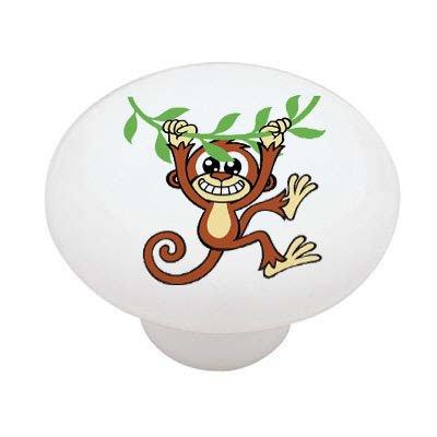 Monkey Drawer Knobs (Monkey on Vine High Gloss Ceramic Drawer Knob)