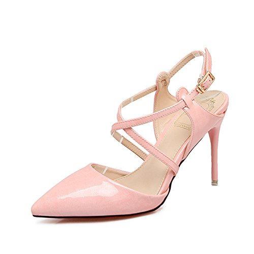High Con 8Cm Baotou Mujer Ranurados Zapatos Para De Calzado GAOLIM Fina Zapatos Rosa De Con Con Tira Más El De Punta Mujer Alto Zapatos Altos Una Shoes De Heel Zapatos Transversal 7ZnaTZqR