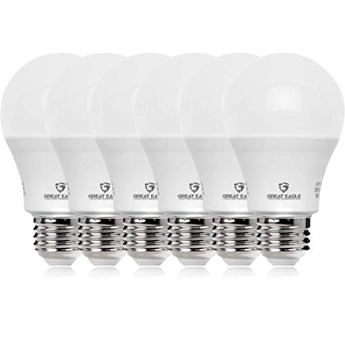 Great Eagle 100W Equivalent LED Light Bulb 1600 Lumens A19 5000K Daylight Non-Dimmable 15-Watt UL Listed -