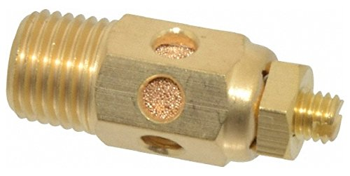 1/4 Male NPT, 9/16'' Hex, 1-9/16'' OAL, Speed Control Muffler 300 Max psi, 30 CFM, Brass by Jupiter Pneumatics