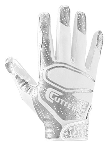 Cutters S251 Rev 2.0 Receiver, Safety, Cornerback Football Gloves with Ultra Sticky C-Tack Grip, Adult and Youth (Vapor Gloves Football compare prices)
