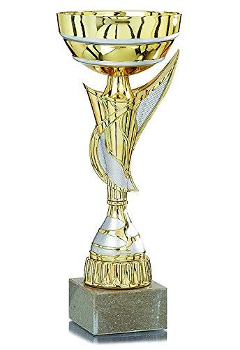 Sportland Pokal Gold mit Silber S.B.J