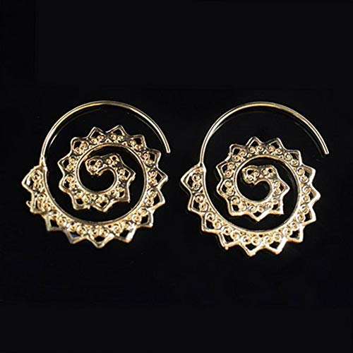 - Endicot Fashion Women Punk Swirl Spiral Threader Hoop Ear Stud Earrings Drop Silver Gold | Model ERRNGS - 17876 |