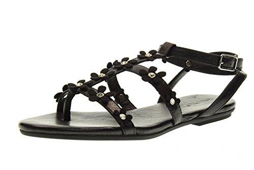 INUOVO tanga sandalias de los zapatos de las mujeres 7158 BLACK NEGRO