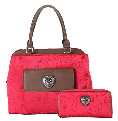 rimen-co-pu-leather-fabric-heart-print-pattern-tote-wallet-2-pieces-set-accented-with-metal-heart-sh