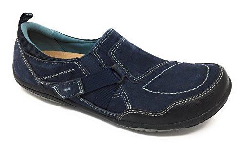 Earth Origins - Zapatos De Mujer Alison, Cuero, Mocasín, Azul Marino