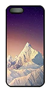 iPhone 5 5S Case landscapes nature snow mountain26 PC Custom iPhone 5 5S Case Cover Black