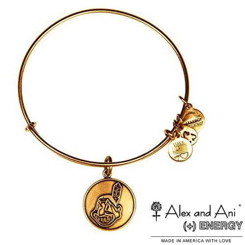 Price comparison product image Cleveland Indians Alex and Ani Women's Logo Bracelet - Gold