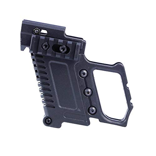 Tactical Area ABS Pistol Carbine Kit Mount W/Rail Panel for G17 G18 G19 GBB Series Accessorie-(BK) ()