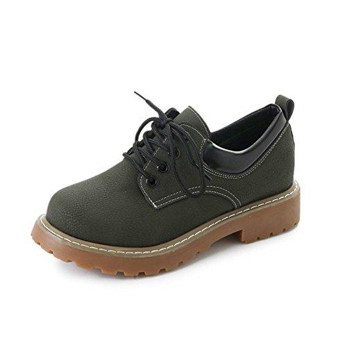 T-juli Damesmode Oxfords-schoenen - Comfortabele Schoenen Met Veters, Lage Hak En Lage Hak Groen