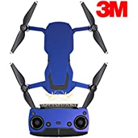 SopiGuard 3M Flip Electric Blue Precision Edge-to-Edge Coverage Vinyl Sticker Skin Controller 3 x Battery Wraps for DJI Mavic Air