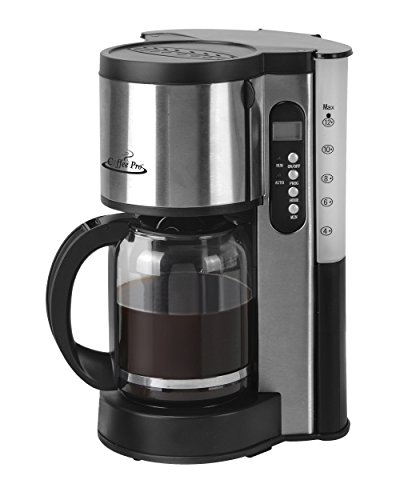 Coffee Pro XQ679T Programmable 12 Cup Coffee Maker – Stainless Steel