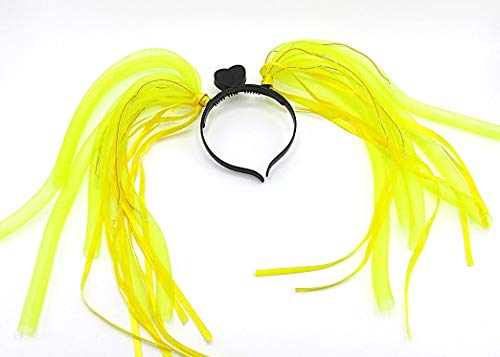 Dazzling Toys Hair Extensions | Red, White, and Blue LED Illuminated Hair Extensions | Light Up Party Dreads | Halloween | Concert | Birthday - Flashing LED Hair Glow Lights ()