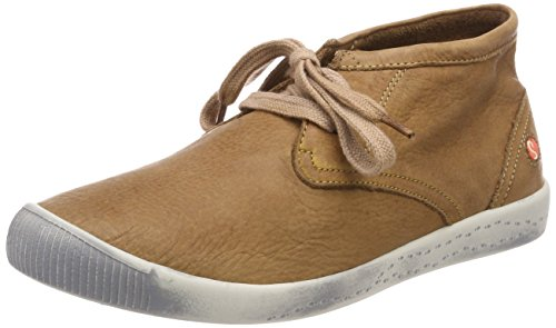 Softinos Indira Washed, Sneaker a Collo Alto Donna marrone