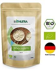 BioNutra Whey-Protein Bio 1000 g, 77% Proteingehalt, hochwertiges Eiweiß, hergestellt in Deutschland aus Bio-Milch, 100% natürliche Zutaten